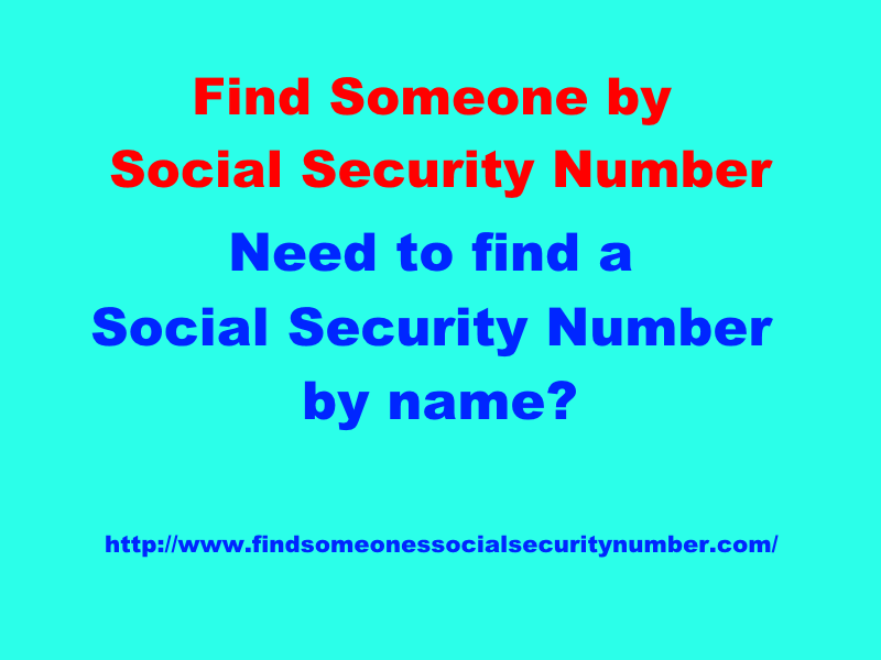 find someone by social security number