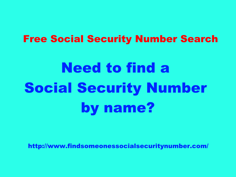 free social security number search